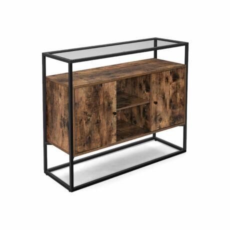 Oldalsó szekrény üveg felülettel 100 x 35 x 80 cm