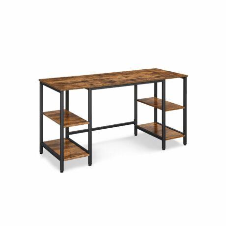 Számítógépes asztal 4 polccal 137 x 55 x 75 cm