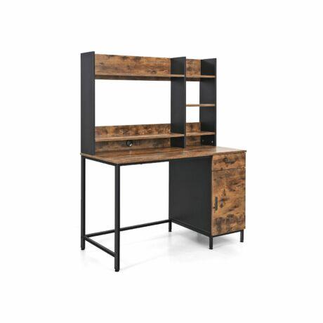 Számítógép asztal polcrögzítéssel 120 x 60 x 153 cm