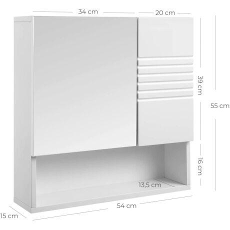 VASAGLE tükrös fürdőszoba szekrény