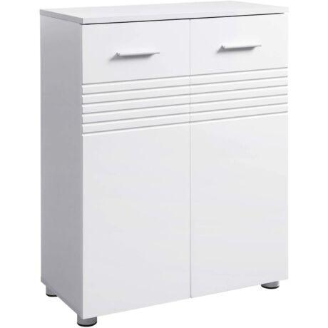 Duplaajtós szekrény, zsanér csillapító és szintező lábakkal, 60 x 30 x 80 cm, fehér