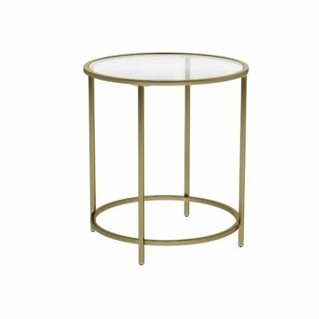 Aranyszínű fém oldalsó asztal 50 x 50 x 54,8 cm