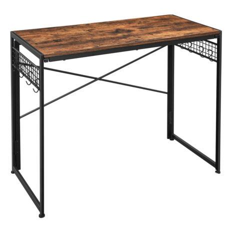 Összecsukható Számítógépes asztal 8 kampóval 100 x 50 x 76,5 cm