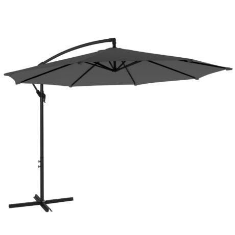 SONGMICS Konzolos napernyő Ø 300 cm, UV-védelem UPF 50+ -ig, nyitó és záró hajtókarral