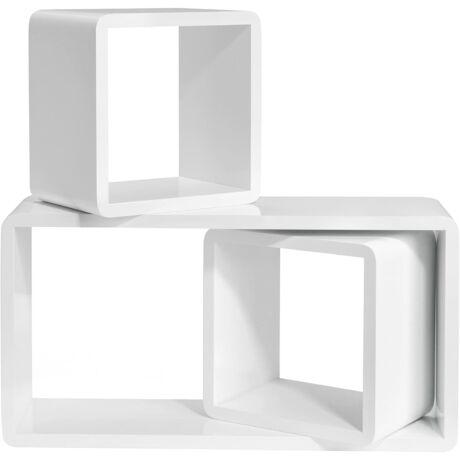 Fali polcok, 3 készlet, fali polcok, kocka polcok, 15 cm mélység, hossz 50 x 22 x 22 cm