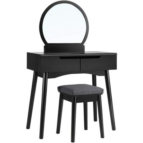SONGMICS Modern fésülködő asztal, 2 nagy fiókkal