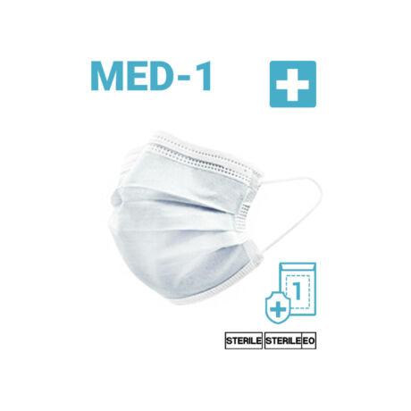 Egyszer használatos Sterilizált Szájmaszk - Felnőtt méret 100 DB
