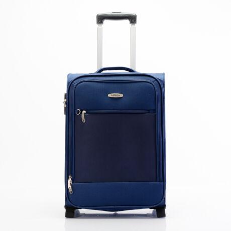 "Bontour ""Trip"" 2 Kerekes Kabinbőrönd 55x39x20 Cm, Kék, 2 Év Garancia"