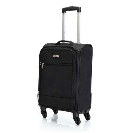 "Bontour ""Trip"" Puha Kabinbőrönd 55x35x20 cm Fekete / 2 ÉV GARANCIA"