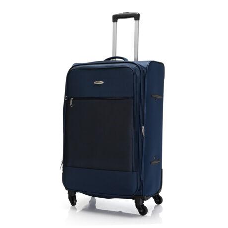 """Bontour """"Trip"""" Bővíthető Puha Bőrönd 77cm Blue / 2 ÉV GARANCIA"""