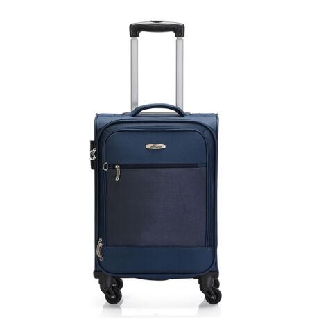 "Bontour ""Trip"" Puha Kabinbőrönd 55x35x20 cm Kék / 2 ÉV GARANCIA"