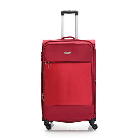 """Bontour """"Trip"""" Bővíthető Puha Bőrönd 77cm Piros / 2 ÉV GARANCIA"""