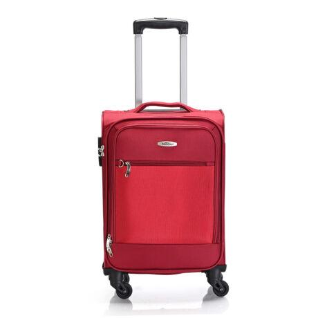 "Bontour ""Trip"" Puha Kabinbőrönd 55x35x20 cm Piros / 2 ÉV GARANCIA"