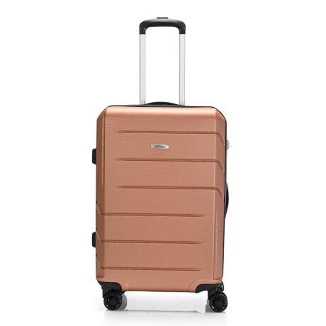 "Bontour ""spinner"" (4 Kerék) Bőrönd 67cm Arany/ 2 Év Garancia"