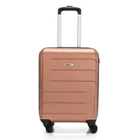 """Bontour """"Spinner"""" 4 Kerekes kabinbőrönd 55X40X20 CM Arany  / 2 ÉV GARANCIA"""