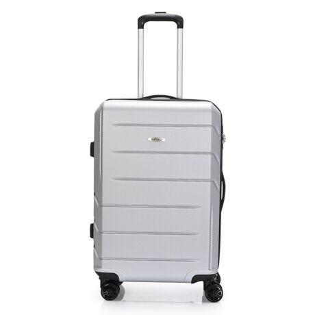 """Bontour """"spinner"""" (4 Kerék) Bőrönd 67cm Ezüst/ 2 Év Garancia"""