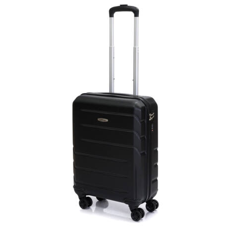 "Bontour ""Spinner"" 4 Kerekes kabinbőrönd 55X40X20 CM Fekete/ 2 ÉV GARANCIA"