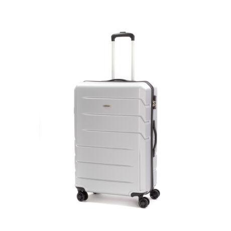 """Bontour """" Spinner"""" (4 Kerék) Bőrönd 77cm Ezüst/ 2 Év Garancia"""