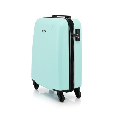 """Bontour """"Vacation"""" 4 Kerekes kabinbőrönd 55X40X20 CM, Zöld, 2 ÉV GARANCIA"""