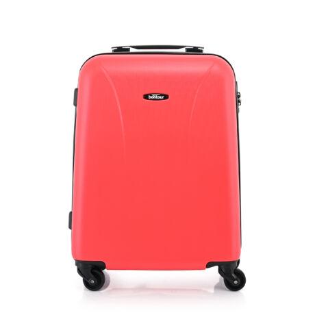 """Bontour """"Vacation"""" 4 Kerekes kabinbőrönd 55X40X20 CM, Piros, 2 ÉV GARANCIA"""