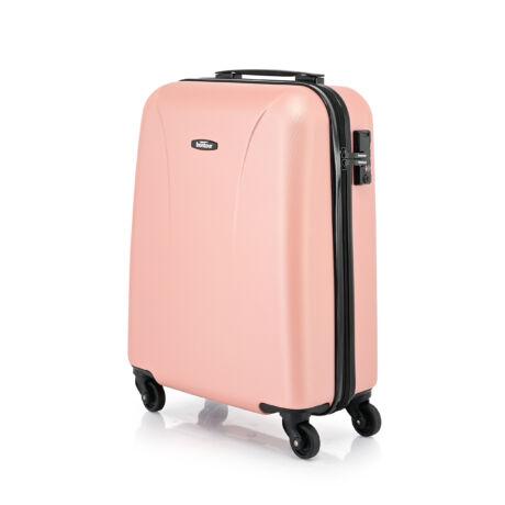 """Bontour """"Vacation"""" 4 Kerekes kabinbőrönd 55X40X20 CM, Rosegold, 2 ÉV GARANCIA"""