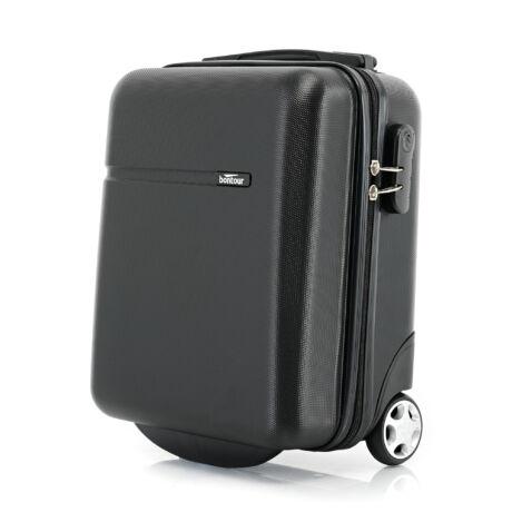 Bontour CabinOne kabinbőrönd WIZZAIR járataira ingyenesen felvihető Fekete színben (40x30x20 cm)