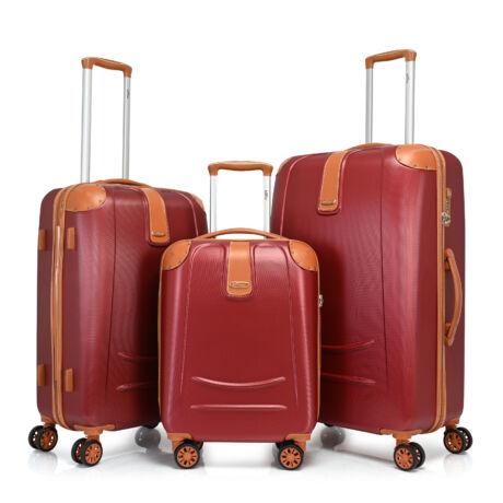 Bontour ELEGANCE Bőrönd Szett Bordó