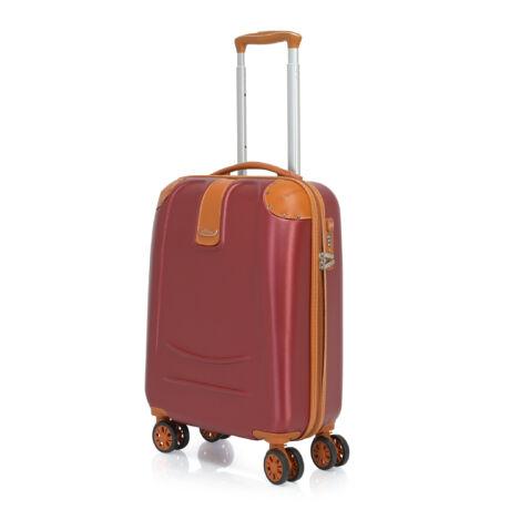 Bontour ELEGANCE Kabin Bőrönd 55cm Bordó