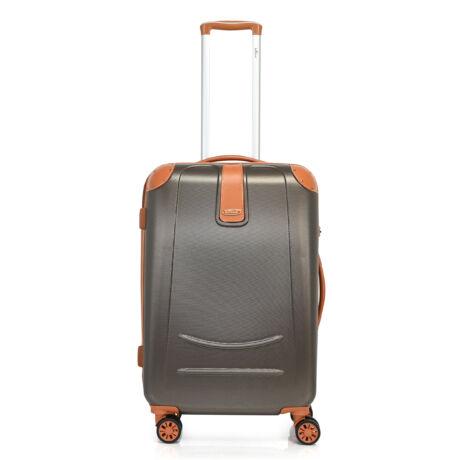 Bontour ELEGANCE Közepes Bőrönd 70cm Sötét Kávé
