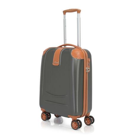Bontour ELEGANCE Kabin Bőrönd 55cm Sötét szürke