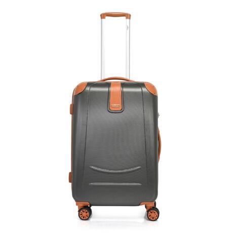 Bontour ELEGANCE Közepes Bőrönd 70cm Sötét szürke