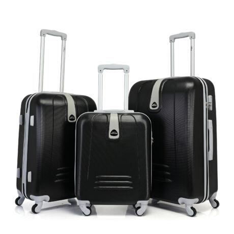 Bontour CLASSIC 4 Kerekű Bőrönd Szett Fekete