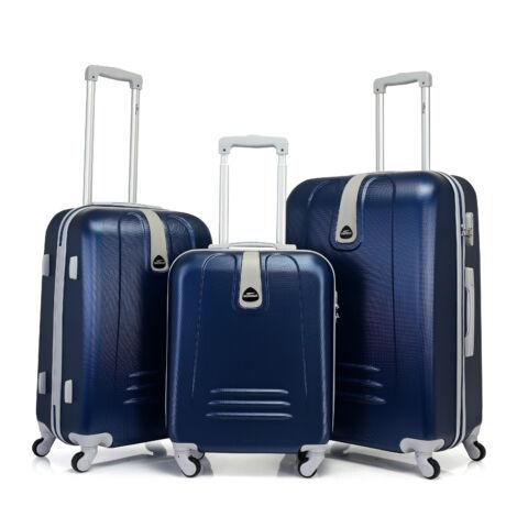 Bontour CLASSIC 4 Kerekű Bőrönd Szett Kék