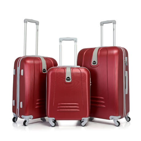 Bontour CLASSIC 4 Kerekű Bőrönd Szett bórdo