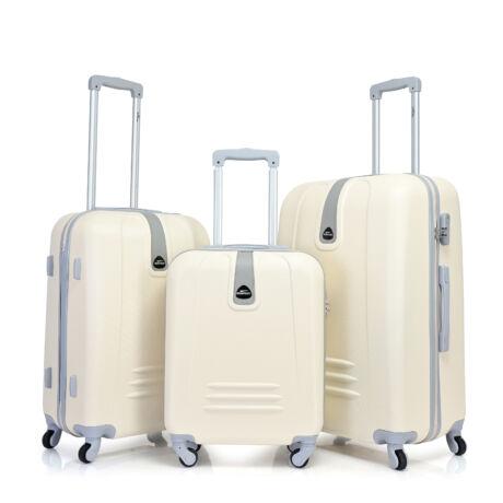 Bontour CLASSIC 4 Kerekű Bőrönd Szett Fehér