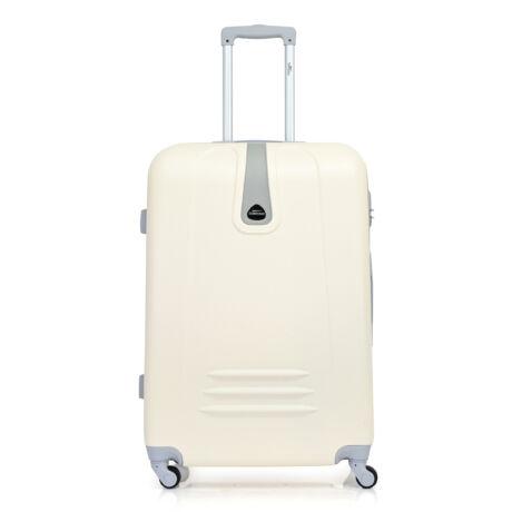 Bontour CLASSIC Nagy Bőrönd 75cm Krémfehér