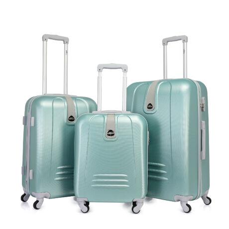 Bontour CLASSIC 4 Kerekű Bőrönd Szett Világos Zöld