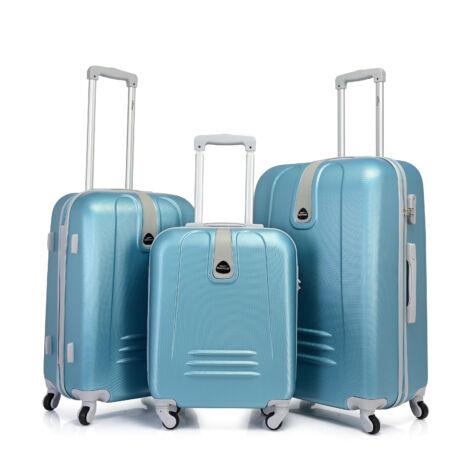 Bontour CLASSIC 4 Kerekű Bőrönd Szett Égszínkék