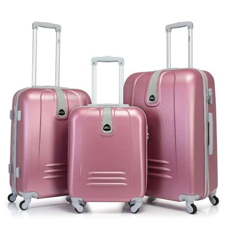 Bontour CLASSIC 4 Kerekű Bőrönd Szett Pink