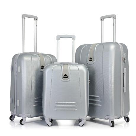 Bontour CLASSIC 4 Kerekű Bőrönd Szett Ezüst