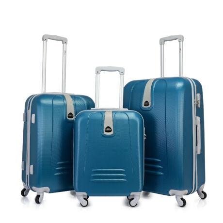 Bontour CLASSIC 4 Kerekű Bőrönd Szett Acélkék