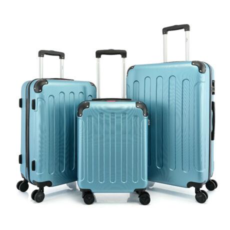 BONTOUR VERTICAL 4 Kerekes Bőrönd Szett Aqua Kék
