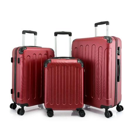 BONTOUR VERTICAL 4 Kerekes Bőrönd Szett Piros