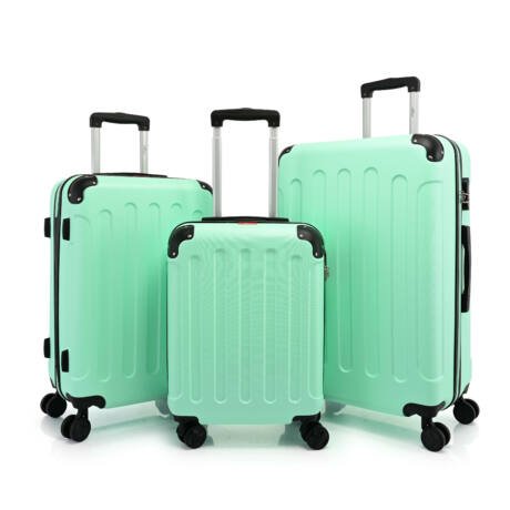BONTOUR VERTICAL 4 Kerekes Bőrönd Szett Zöld