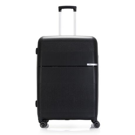 """Bontour """"Cruise"""" 4 Kerekes Bőrönd 77 Cm Fekete / Törhetetlen Rugalmas Anyagból"""