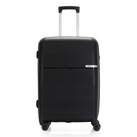 """Bontour """"Cruise"""" 4 Kerekes Bőrönd 67 Cm Fekete / Törhetetlen Rugalmas Anyagból"""