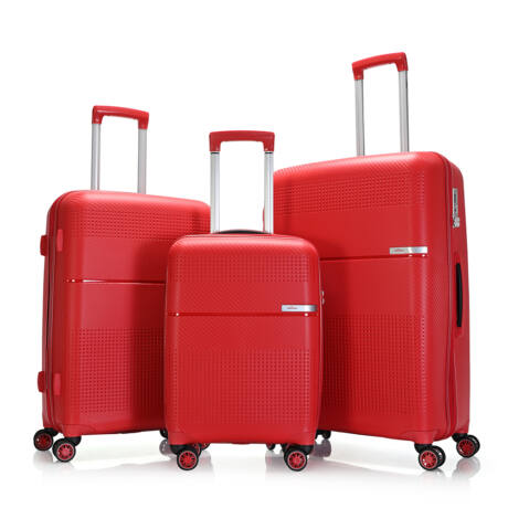 """Bontour """"Cruise"""" 3 db-os Bőrönd Szett Piros Törhetetlen Rugalmas Anyagból"""