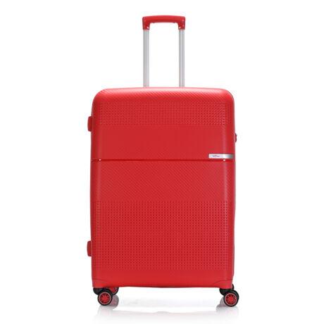 """Bontour """"Cruise"""" 4 Kerekes Bőrönd 77 Cm Piros / Törhetetlen Rugalmas Anyagbó"""