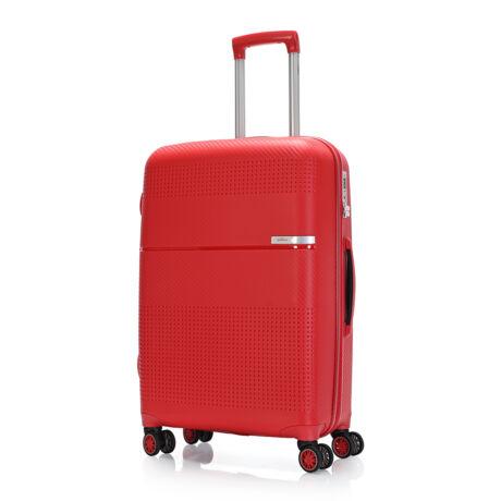 """Bontour """"Cruise"""" 4 Kerekes Bőrönd 67 Cm Piros / Erős & Rugalmas Anyagból"""