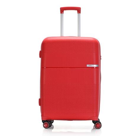 """Bontour """"Cruise"""" 4 Kerekes Bőrönd 67 Cm Piros / Törhetetlen Rugalmas Anyagból"""